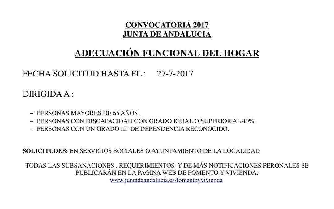 ADECUACIÓN FUNCIONAL DEL HOGAR 2017