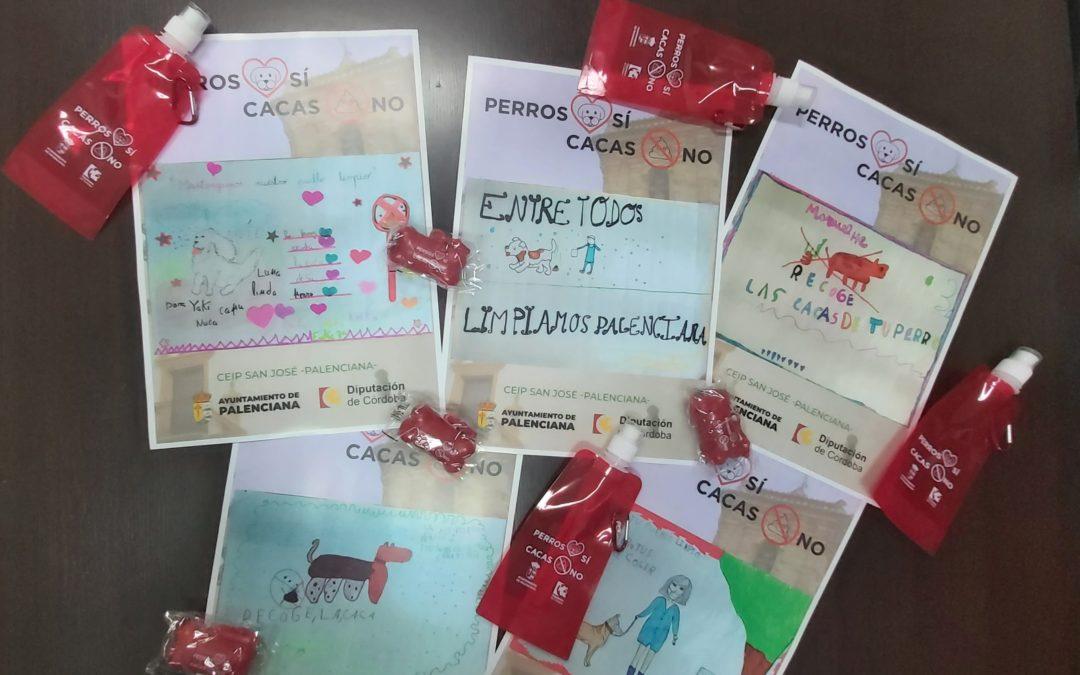El Ayuntamiento de Palenciana y la clase de 3º de primaria del CEIP San José diseñan una campaña para mantener limpio el municipio y concienciar sobre la recogida de excrementos de mascotas.