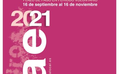 Cartel anunciador de la puesta al cobro en periodo voluntario de las cuotas IAE 2021
